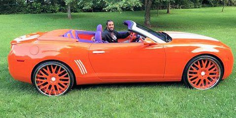 Always a Tiger!  Vic Beasley in his Clemson car.