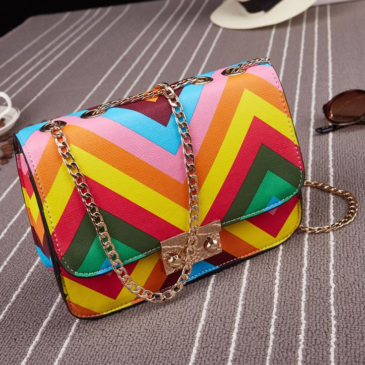 Hot Sale!New Fashion Rainbow stripes women bag Messenger shoulder bag Variegated Hit color Rivet mini handbag Check more at http://clothing.ecommerceoutlet.com/shop/luggage-bags/womens-bags/hot-salenew-fashion-rainbow-stripes-women-bag-messenger-shoulder-bag-variegated-hit-color-rivet-mini-handbag/
