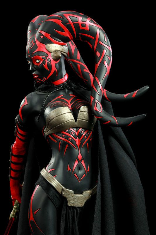 the sexiest Sith in the universe...Darth Talon list - of course the color scheme in this pic is in reverse