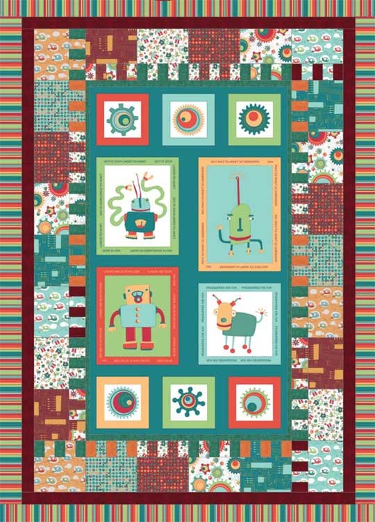 Baby Quilt Patterns Using A Panel : 17 Best images about Using panels on Pinterest Kid quilts, Robert kaufman fabric and Large prints