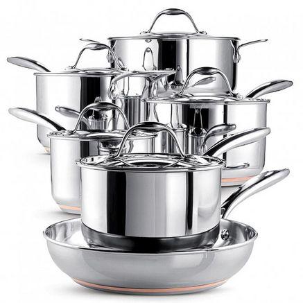 Paderno® ''Copperline'' 11-Piece Cookware Set, 4700-11-01