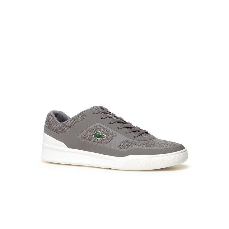 LACOSTE Men's Explorateur Sport Marl Piqué Sneakers - grey. #lacoste #shoes #
