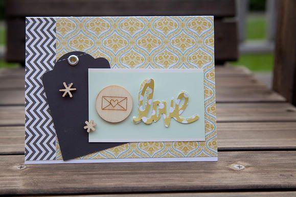 Love greeting card created with Teresa Collins tools www2.fiskars.com