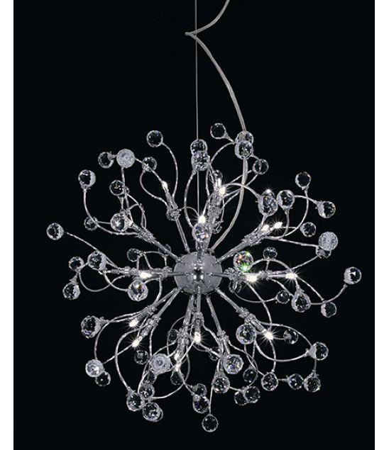 COTTEX FESTIVAL T1510  Festival lampe, en slank design lys i en unik design med vakre krystaller som lyser opp rommet , plassert beleilig i stuen .
