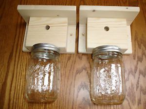 How to Make a Carpenter Bee Trap | Two Carpenter Bee -Wood Boring Bee Traps - Including Mason Catch Jars ...