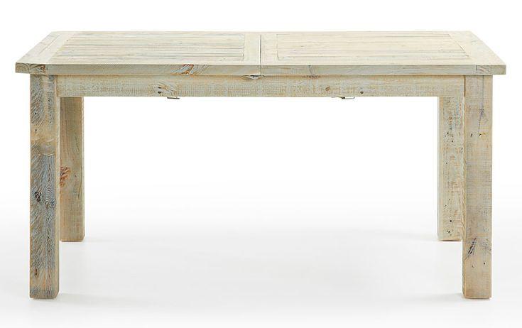 Mesa de Comedor extensible Colonial Hycks Material: Madera de Abeto Mueble fabricado artesanalmente con madera de abeto procedente de palets reciclados, acabado envejecido con pintura aplicada a mano en color almendra... Eur:633 / $841.89