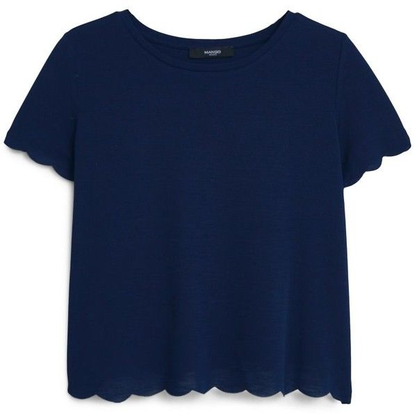 Textured T-Shirt ($16) ❤ liked on Polyvore featuring tops, t-shirts, tees, short sleeve t shirts, mango t shirt, mango tops, blue tee and short sleeve tops