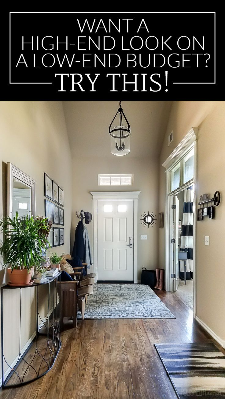Do you wish your budget matched the price tags at high-end stores? I found out how to get the look I wanted in my entryway without giving up dinners out. Wait until you see this before and after! / Post sponsored by @athomestores