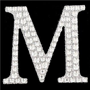 M Letter In Silver 17 Best images ...
