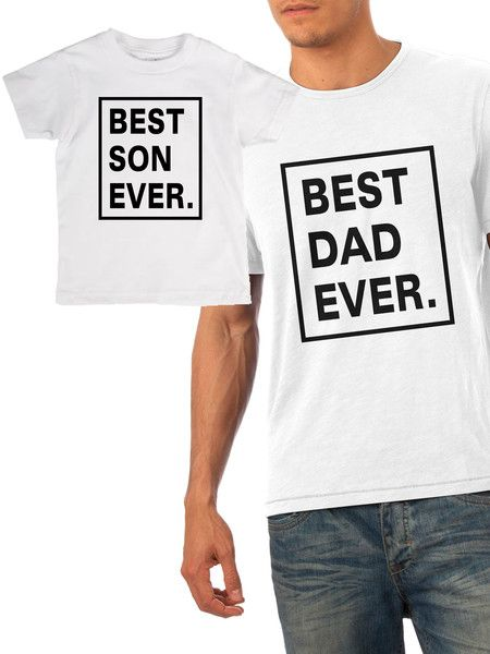 0a41947a1 Best Son Ever & Best Dad Ever father and son matching set | Finn | Dad to  be shirts, Father, son, Best dad
