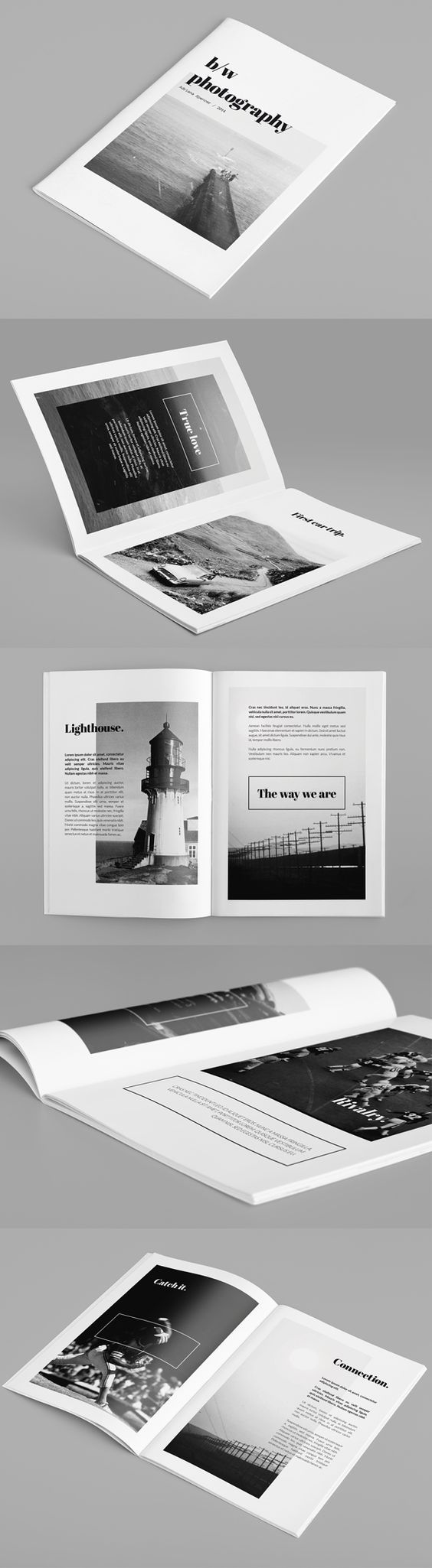 Minimal Photography Portfolio Brochure by Rounded Hexagon, via Behance: