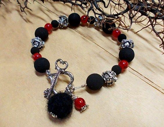 Bracelet with heart-key clasp <3