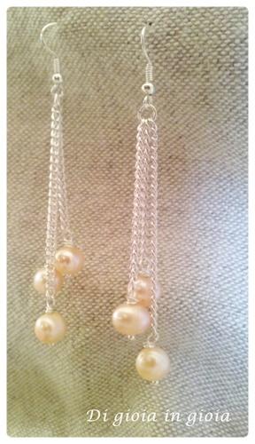 Orecchini con perle - Pearls earrings - Bride Wedding - Gioielli da sposa