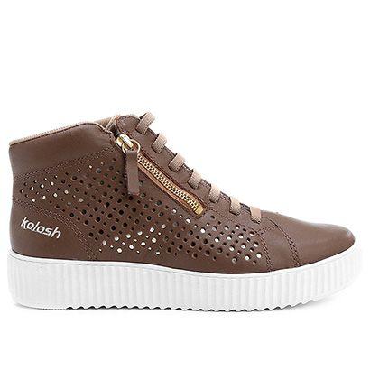Compre Tênis Kolosh Cano Médio Caixa Alta Marrom na Zattini a nova loja de moda online da Netshoes. Encontre Sapatos, Sandálias, Bolsas e Acessórios. Clique e Confira!