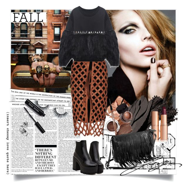 Grunge Fall by ramona-ice on Polyvore featuring Altuzarra, Bobbi Brown Cosmetics, Charlotte Tilbury, Alexander McQueen and Nicki Minaj