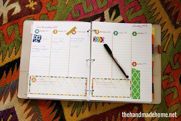 Weekly Calendar Diy : Best diy planners binders agendas organizers