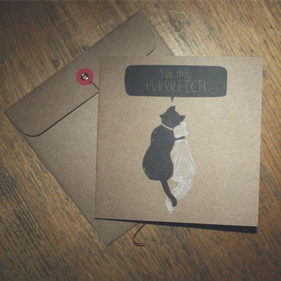 Prince Artemis Cat Valentines Kraft Card Birthday Card by Enixy