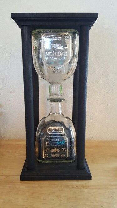 Patron Hour Glass! 44.99 plus shipping. (Works)  ORDER HERE   www.etsy/people/craftwiccandles
