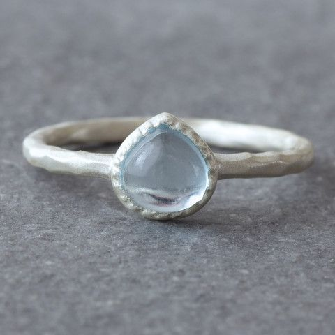 Drop Topaz Ring