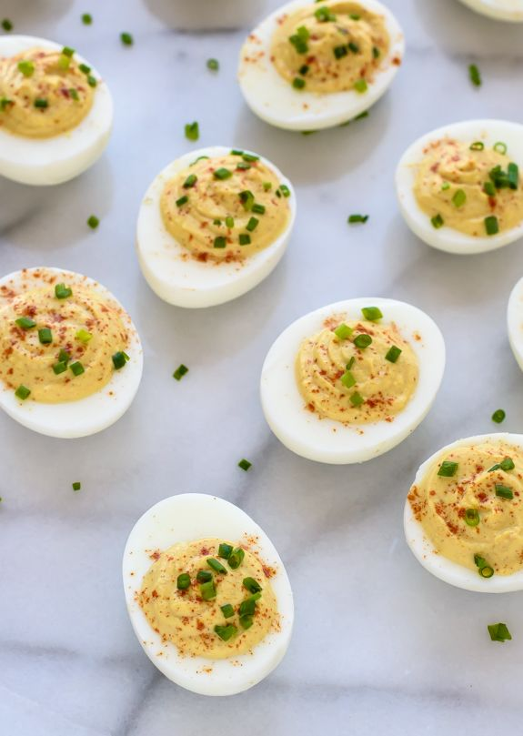 Curried Deviled Eggs. A tasty twist on classic deviled eggs that is even better than the original!
