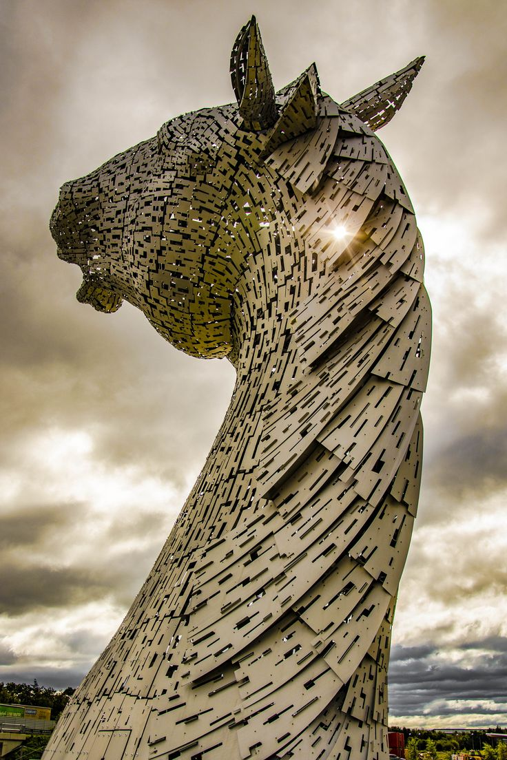 Best Scotland Memories And Desires Images On Pinterest - Amazing horse head sculpture lights scottish skyline