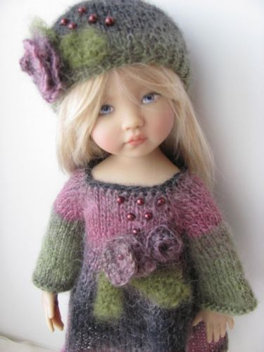 OOAK Hand Knit Doll Outfit Set for 13'' BJD Helen Kish Diana Effner | eBay