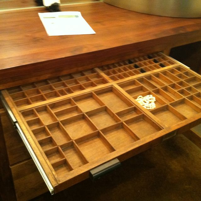 Awesome jewelry drawer for closet. Only put the larger squares in the back row and the smaller ones in the front