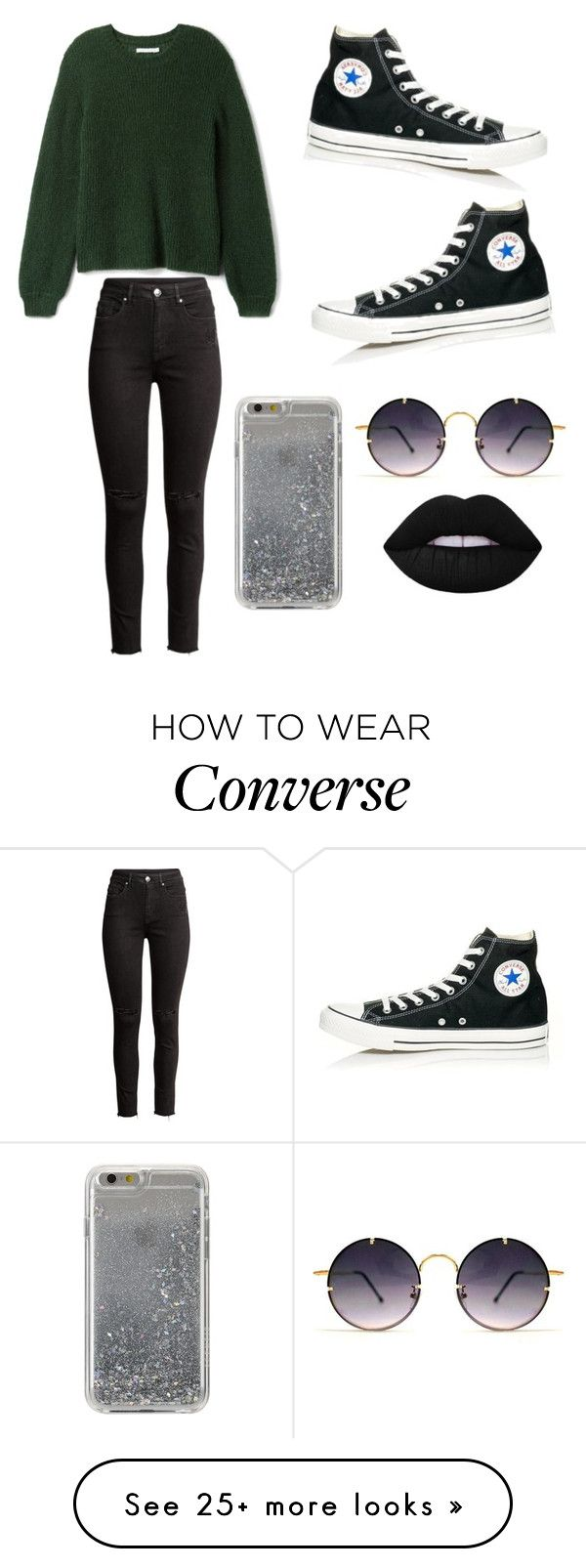 """Untitled #435"" by kaylee10-i on Polyvore featuring Converse, Agent 18 and Spitfire"