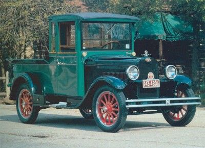 This 1928 Chevrolet pickup wears a wooden body styled after those manufactured by the York-Hoover Body Corporation. See more classic truck pictures.