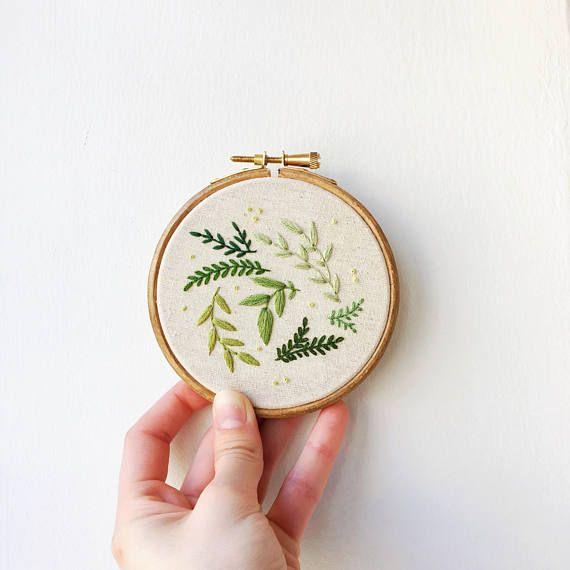 Botanische platzen Handstickerei Hoop Kunst