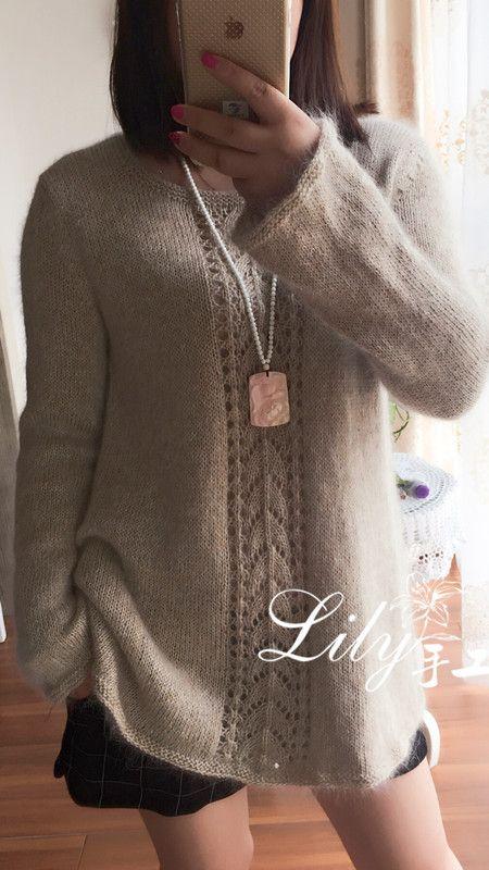 【Lily*手工】--皓月--马海与七彩羊毛棉的组合 - Lily - Lily的手工编织天地