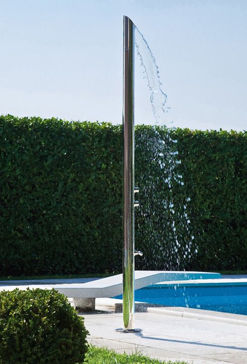 outdoor shower pole