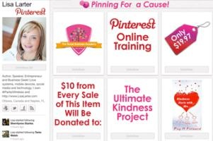 Learn all about using Pinterest with Lisa Larter.  You'll be glad you did :)