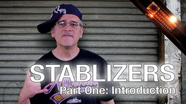 """Stabilizers Part One: Introduction - The Basic Filmmaker Ep 80. I'm on a tear to stop all this complicated blah-blah on stabilizers, I do a public service announcement, and I try (unsuccessfully) a """"yo!"""" thing."""