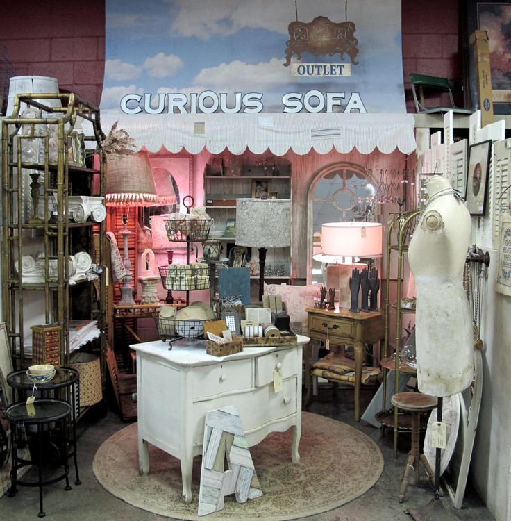 Creative Antique Booths | The new Curious Sofa 'Outlet' at the Lone Elm Antique Mall