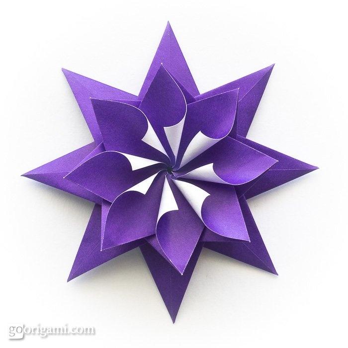 Pretty origami star