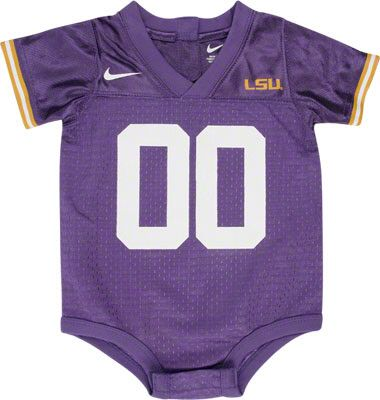 LSU baby jersey. The men will insist on this one.