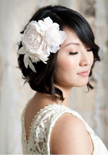 Ideas of Short Bob Wedding Hairstyles