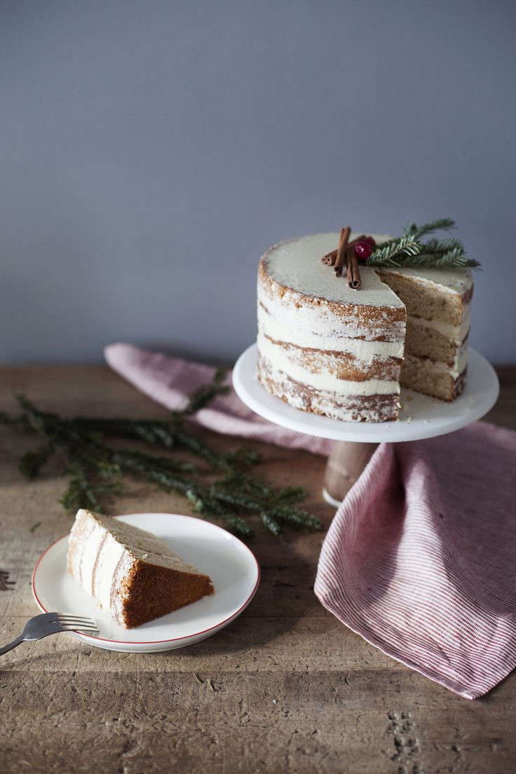 eggnog cake; delicious eggnog infused butter cake with an amazing eggnog infused cooked flour buttercream