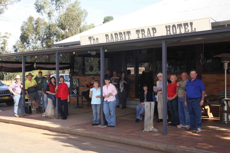 The Rabbit Trap Hotel is in Albert, NSW, with a population of just 11, but what it lacks in numbers, it makes up for in hospitality and great meals.