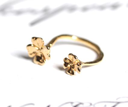 Clover ring / SILVER 925 / GOLD coating