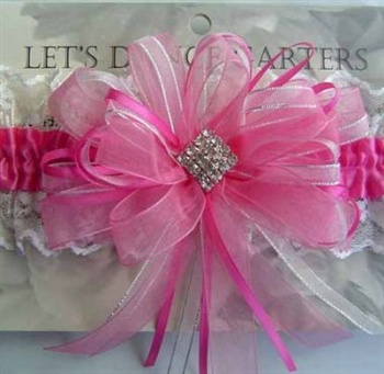 Pink Garter for prom or wedding.