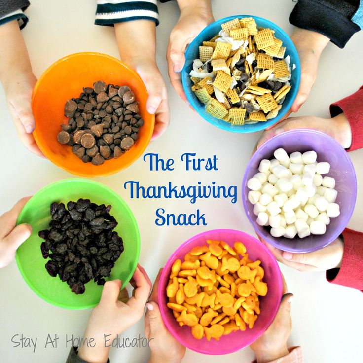 The First Thanksgiving Snack - This is a Thanksgiving snack idea that also teaches children about the first Thanksgiving meal.