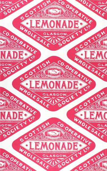 Scottish Co-Operative Lemonade - maybe make vintage like seals like this and plug in the logo with team spirit sayings inside.