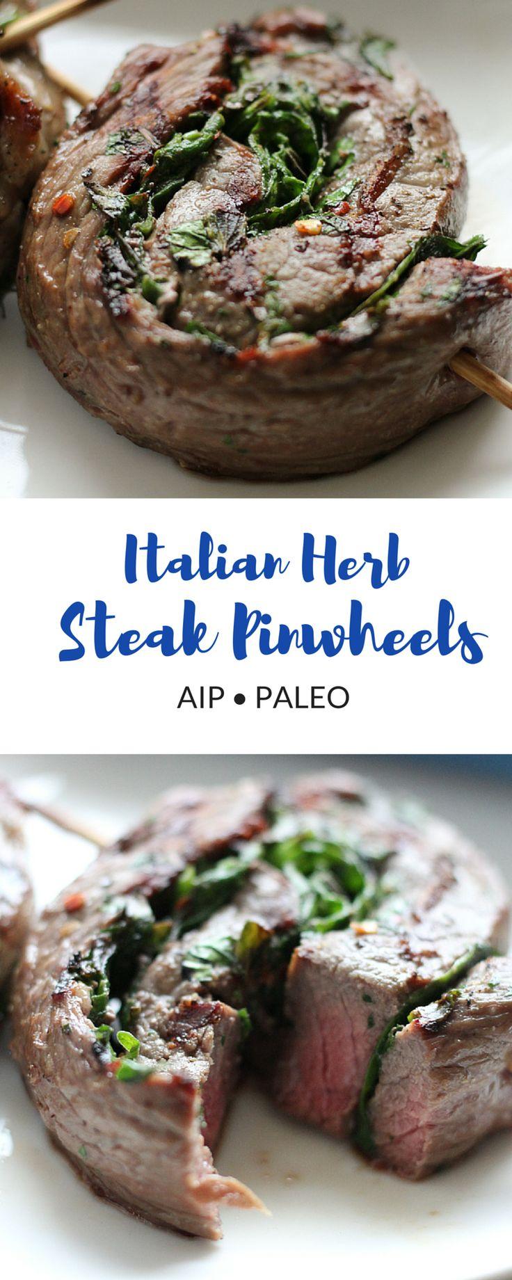 Italian Herb Steak Pinwheel (AIP, Paleo)