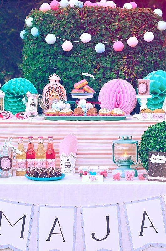urodziny dziecka w ogrodzie - dekoracje