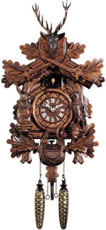 """Hones 16"""" Quartz Carved 334Q Cuckoo Clock – Designed in Time"""