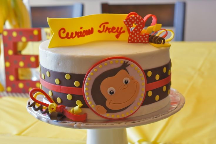 Astounding Curious George Cakes Decoration Ideas Little Birthday Cakes Personalised Birthday Cards Beptaeletsinfo