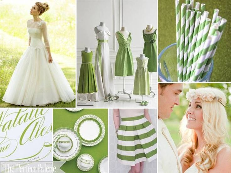 Green + White http://www.theperfectpalette.com/2012/01/shades-of-green-white-hi-there-friends.html