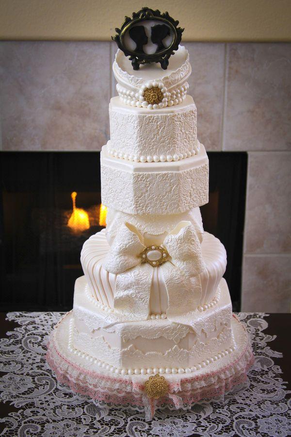 Tarta de boda de estilo barroco